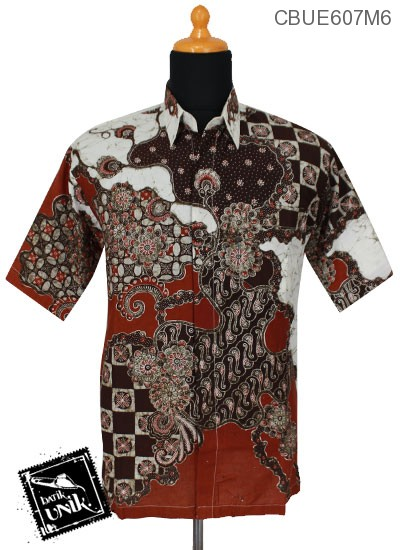 Kemeja Batik Ekslusive Motif Parang Kawung Abstrak