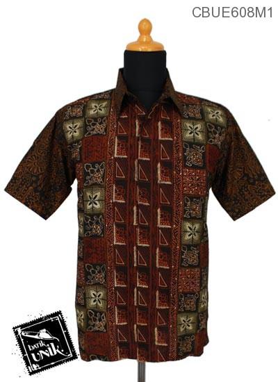 Baju Batik Terbaru  Kemeja Ekslusive Katun Motif Sirapan Miring