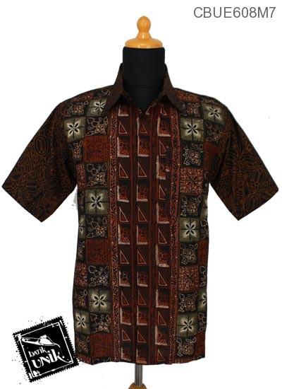 Baju Batik Kemeja Ekslusive Katun Motif Sirapan Miring