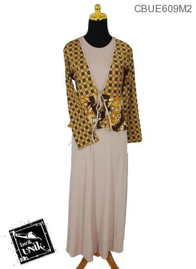 Baju Batik Gamis Motif Kenikir Wijaya