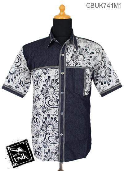 Baju Batik Kemeja Pekalongan Motif Parang Kontemporer Kombinasi