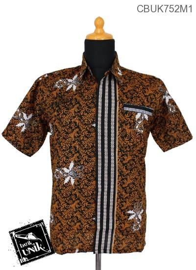 Baju Batik Terbaru  Kemeja Motif Godhong Teki Tumpal
