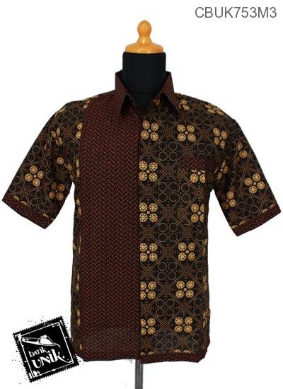 Kemeja Batik Motif Cappucino Tumpal
