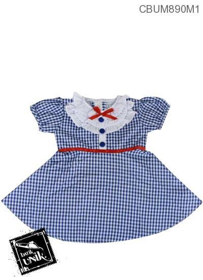 Dress Pesta Anak Dora Warna Biru
