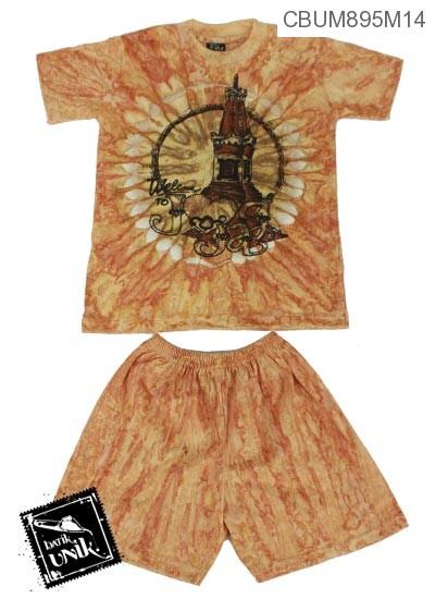 Baju Batik Anak Setelan Pekalongan Motif Pelangi Tempo Doeloe