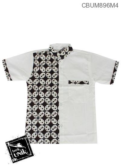 Baju Batik Anak Kemeja Motif Parang Kawung