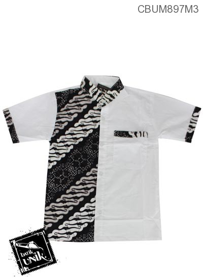Baju Batik Anak Kemeja Motif Parang Kawung Dua