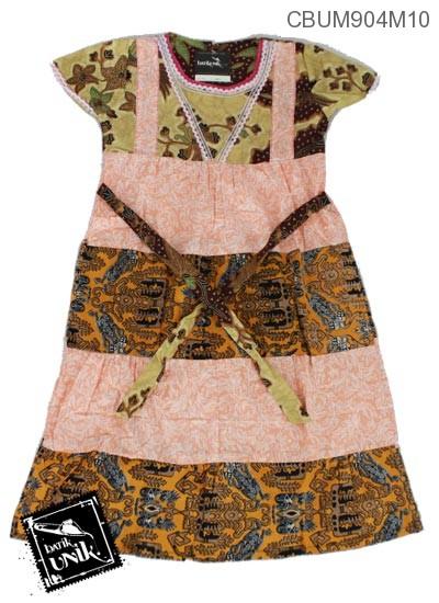 Dress Renda Anak Katun Motif Perca Warna