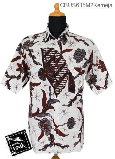 Baju Batik Sarimbit Kemeja Motif Salur Kipas