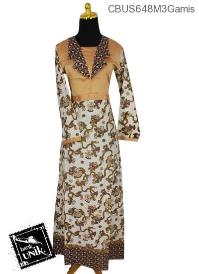 Baju Batik Sarimbit Gamis Motif Anyaman Bunga Warna Soft