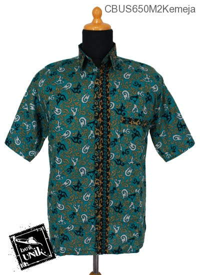 Baju Batik Sarimbit Kemeja Motif Abstrak Daun Api