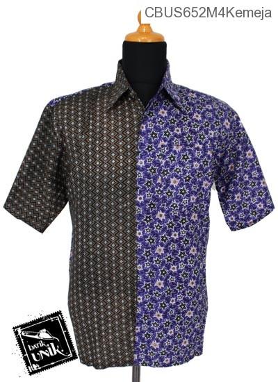 Baju Batik Sarimbit Kemeja Katun Motif Ceplok Bintang