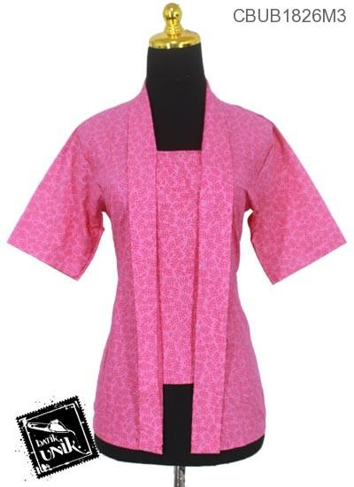Blus Batik Kutu Baru Pekalongan Motif Abstrak Daun Asem XXL-XXXL