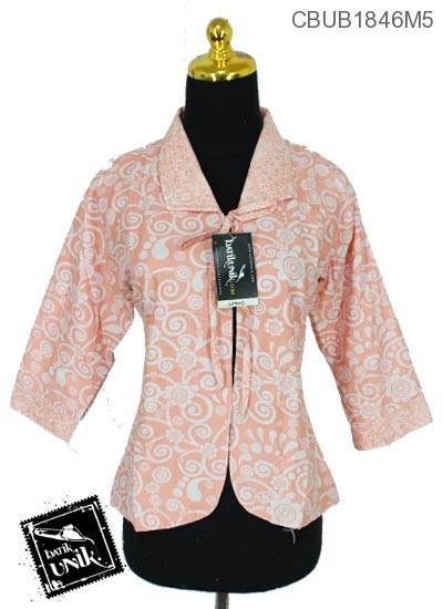 Bolero Batik Terbaru  Bolak-Balik Motif Bunga Kupu-Kupu Warna Kombinasi