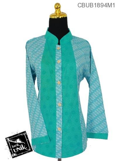 Baju Batik Terbaru  Blus Panjang Motif Parang Cungkil
