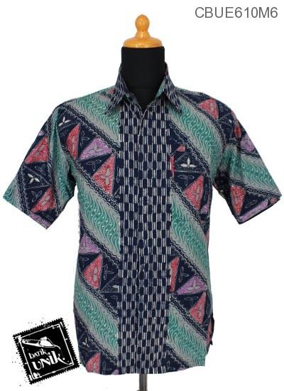 Kemeja Batik Ekslusive Motif Tunjung Geometri Warna