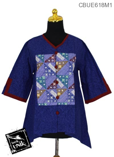 Blus Batik Terbaru  Saputangan Embos Primis