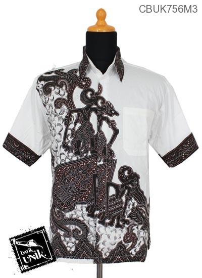 Baju Batik Kemeja Motif Gunungan Wayang