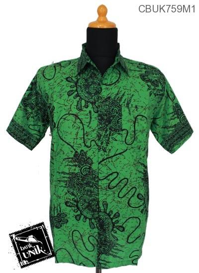Baju Batik Terbaru  Kemeja Motif Benang Uler