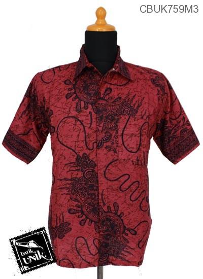 Baju Batik Kemeja Motif Benang Uler