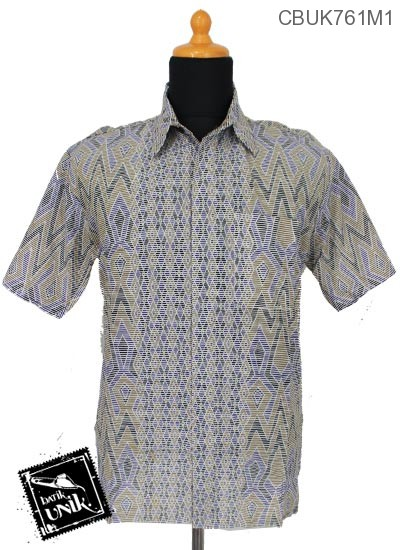 Baju Batik Terbaru  Kemeja Katun Motif Tenja Garis