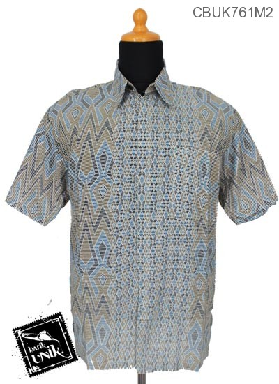 Baju Batik Kemeja Katun Motif Tenja Garis