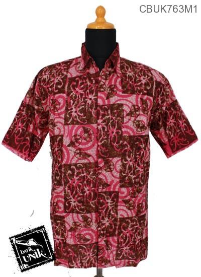 Baju Batik Terbaru  Kemeja Pekalongan Motif Godhong Alas Spiral
