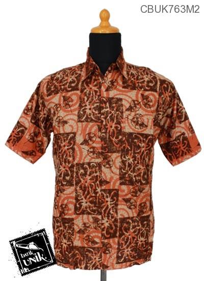 Baju Batik Kemeja Pekalongan Motif Godhong Alas Spiral