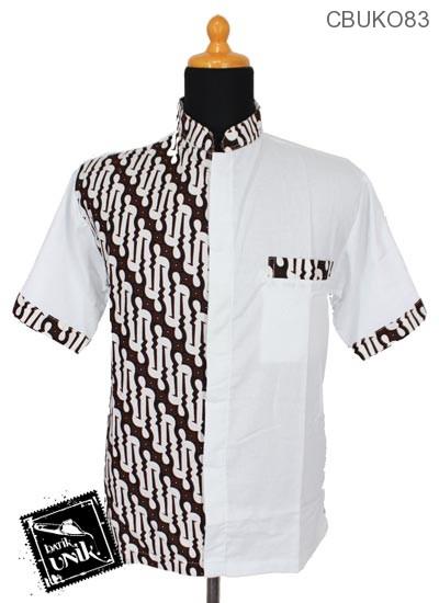 Baju Muslim Koko Motif Parang Pancing