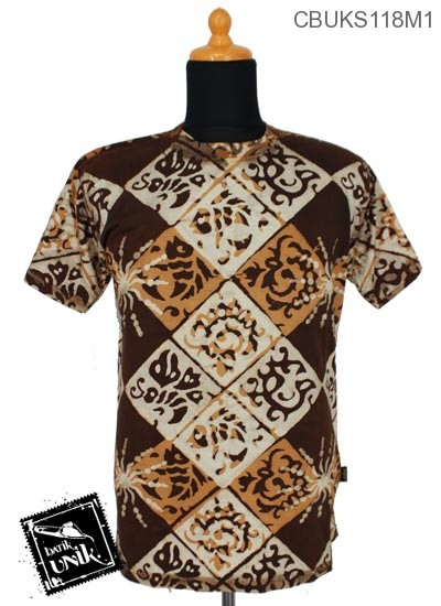 Kaos Batik Terbaru  Pekalongan Motif Variasi Catur Dua Dua