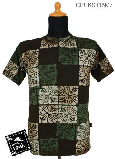 Kaos Batik Pekalongan Motif Variasi Catur Dua Dua