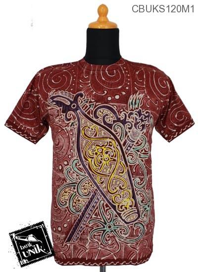 Kaos Batik Terbaru  Katun Motif Dayak Kalimantan