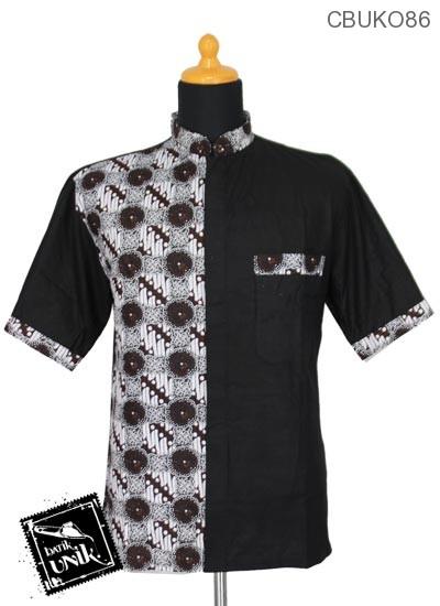 Baju Muslim Koko Motif Parang Kembang