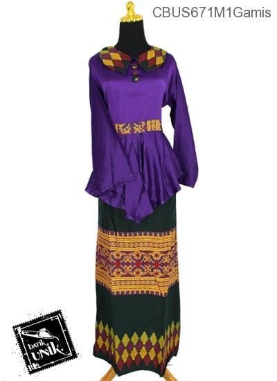 Baju Batik Sarimbit Gamis Motif Songket Tumpal Gamis