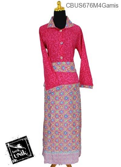Baju Batik Sarimbit Gamis Motif Kawung Kecer Gamis Batik