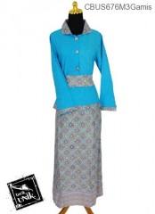 Baju Batik Sarimbit Gamis Motif Kawung Kecer