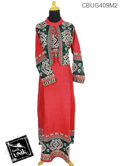 Baju Batik Gamis Motif Songket Gamis Batik Murah