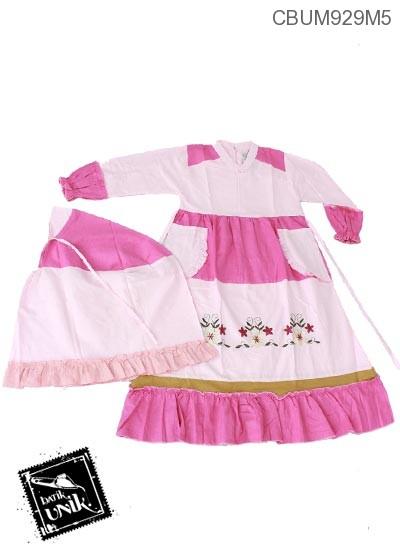 Gamis Anak Ainun Motif Bunga No 7 8 Baju Muslim Anak