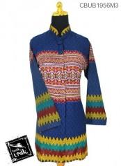 Blus Tunik Panjang  Motif Rang Rang Warna
