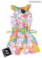 Jumpsuit Anak Motif Bunga Pelangi Size S
