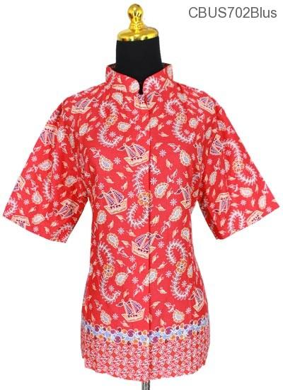 Baju Batik Sarimbit Blus Motif Kapal
