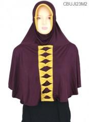 Jilbab Bergo Syar'i Amanah Pita Depan Jersey Super