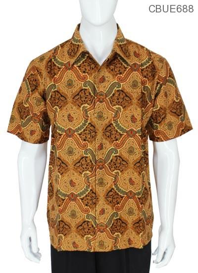 Kemeja Pendek Batik Motif Pisang Bali