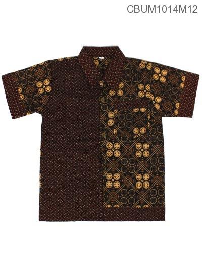 Baju Batik Anak Motif Cappucino Size L