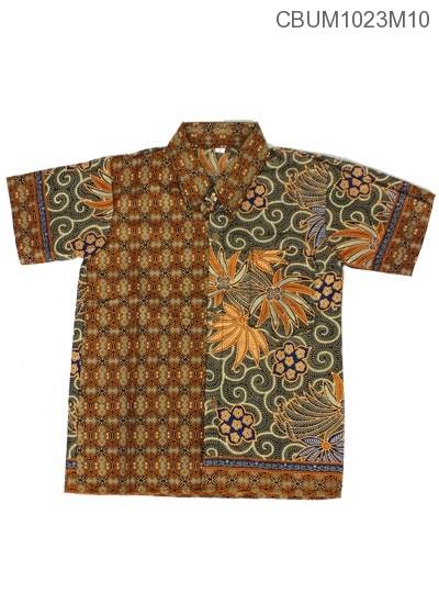Baju Batik Anak Kemeja Motif Wadas Tumpal Size Xxl