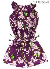 Jumpsuit Anak Motif Bunga Sakura Size M