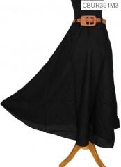 Rok Katun Rayon Warna Free Belt