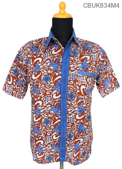Baju Batik Kemeja Motif Cirebon Kemeja Pendek Murah