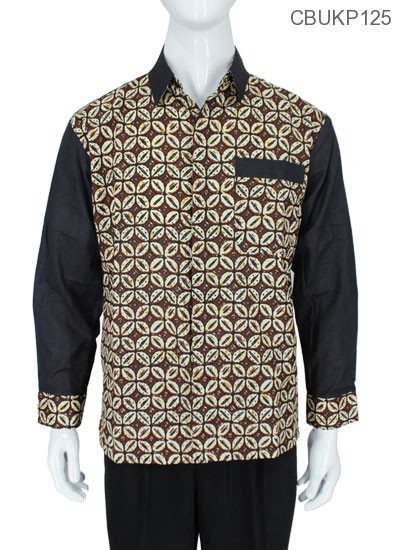 Baju Batik Kemeja Panjang Motif Kawung