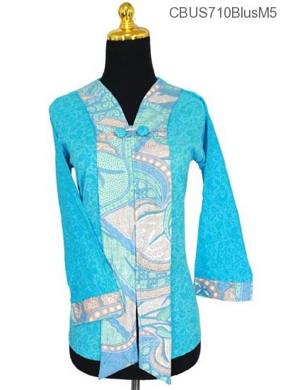 Baju Batik Sarimbit Blus Motif Bunga Salur